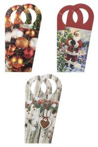Flaschenkarte Weihnachten bunt, 6er-Set