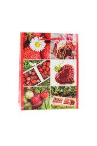 Geschenktüte Erdbeere, 11 x 6 x 13,5 cm