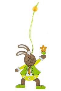 Osterhasen-Junge zum Anhängen, 7 cm