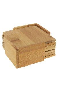 Untersetzer-Set aus Bambus, 7-teilig