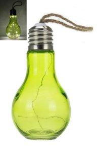 Anhänger Glühbirne grün mit 6 LEDs