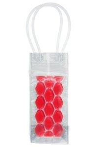 Flaschenkühltasche 10 x 10 x 25 cm rot