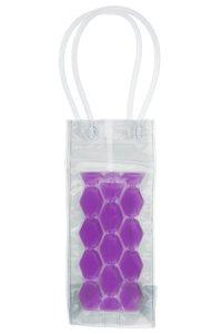 Flaschenkühltasche 10 x 10 x 25 cm lila
