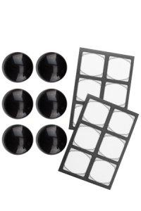 Cubi Kappe 6er plus 12 Etiketten, schwarz