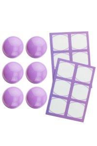 Cubi Kappe 6er plus 12 Etiketten, flieder