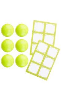 Cubi Kappe 6er plus 12 Etiketten, lime