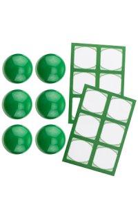 Cubi Kappe 6er plus 12 Etiketten, grün