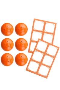 Cubi Streuerkappe 6er plus 12 Etiketten, orange