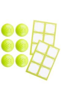 Cubi Streuerkappe 6er plus 12 Etiketten, lime