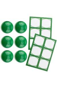 Cubi Streuerkappe 6er plus 12 Etiketten, grün