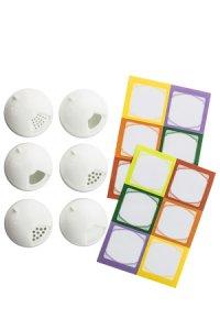 Cubi Multikappe 6er plus 12 Etiketten, weiß