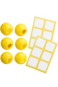 Cubi Multikappe 6er plus 12 Etiketten, gelb