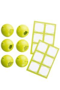 Cubi Multikappe 6er plus 12 Etiketten, lime