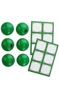 Cubi Multikappe 6er plus 12 Etiketten, grün
