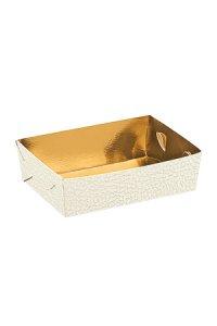 Schale 130 x 90 x 35 mm gold/weiß