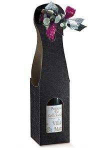 Weinflaschenkarton 1er mit Fenster schwarz