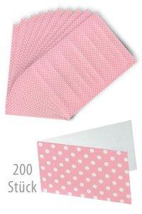 Schildchen 45 x 25 mm rosa gepunktet, 200 Stück