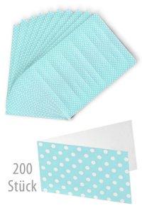 Schildchen 45 x 25 mm blau gepunktet, 200 Stück