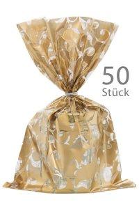 Schmuckbeutel Elegance gold 15 x 25 cm - 50er Pack