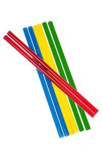 Trinkhalm wiederverwendbar 14 cm, Ø 7,7 mm 4-farbig, 8 Stück