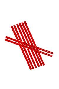 Trinkhalm wiederverwendbar 14 cm, Ø 7,7 mm rot, 8 Stück