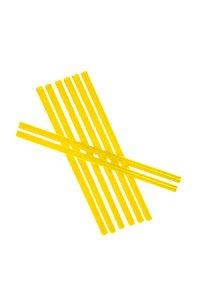 Trinkhalm wiederverwendbar 14 cm, Ø 7,7 mm gelb, 8 Stück