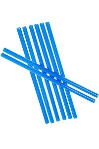 Trinkhalm wiederverwendbar 14 cm, Ø 7,7 mm blau, 8 Stück