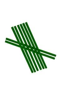 Trinkhalm fest 14 cm Ø 7,7 mm grün, 8 Stück