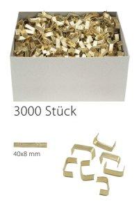 U-Clips 40 x 8 mm gold, 3000 Stück