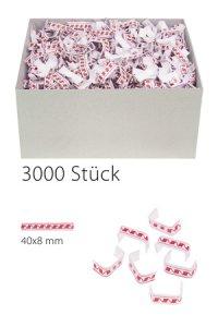 U-Clips 40 x 8 mm rot-weiß, 3000 Stück