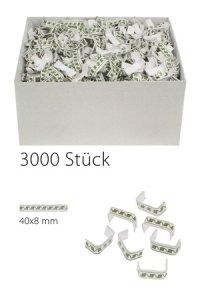 U-Clips 40 x 8 mm grün-weiß, 3000 Stück