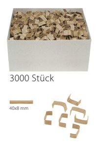 U-Clips 40 x 8 mm natron, 3000 Stück