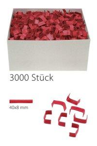 U-Clips 40 x 8 mm rot, 3000 Stück
