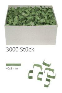 U-Clips 40 x 8 mm grün, 3000 Stück