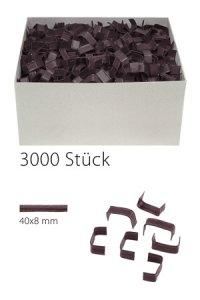 U-Clips 40 x 8 mm braun, 3000 Stück