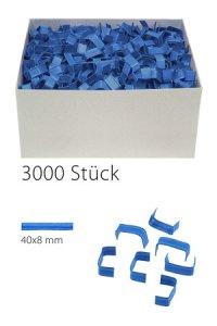 U-Clips 40 x 8 mm blau, 3000 Stück