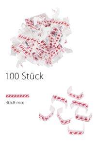 U-Clips 40 x 8 mm rot-weiß, 100 Stück