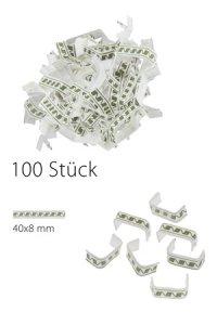 U-Clips 40 x 8 mm grün-weiß, 100 Stück