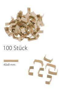 U-Clips 40 x 8 mm natron, 100 Stück
