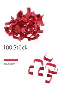 U-Clips 40 x 8 mm rot, 100 Stück