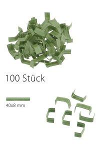 U-Clips 40 x 8 mm grün, 100 Stück