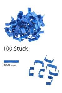 U-Clips 40 x 8 mm blau, 100 Stück