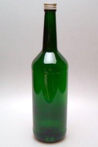 Geradhalsflasche 1000 ml grün