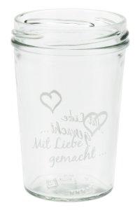 Becherglas 150 ml TO 66 Mit Liebe gemacht