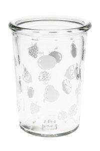 Becherglas 150 ml Obst weiß