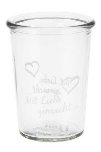 Becherglas 150 ml Mit Liebe gemacht