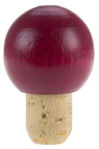 Deko-Korken 16 mm mit Holzkugel rot Ø 31 mm