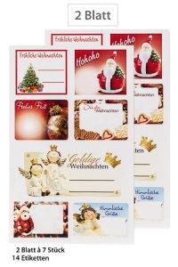 Weihnachtsetiketten Goldige Weihnachten