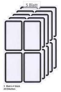 Etiketten Rahmen in schwarz