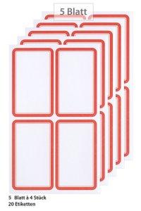 Etiketten Rahmen in rot
